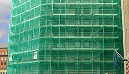 Мрежи за покриване на строителни скелета