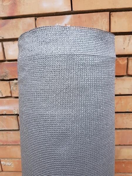Засенчваща мрежа 95%, Рафия, сребърно-сива, 140 гр./кв.м. - 4